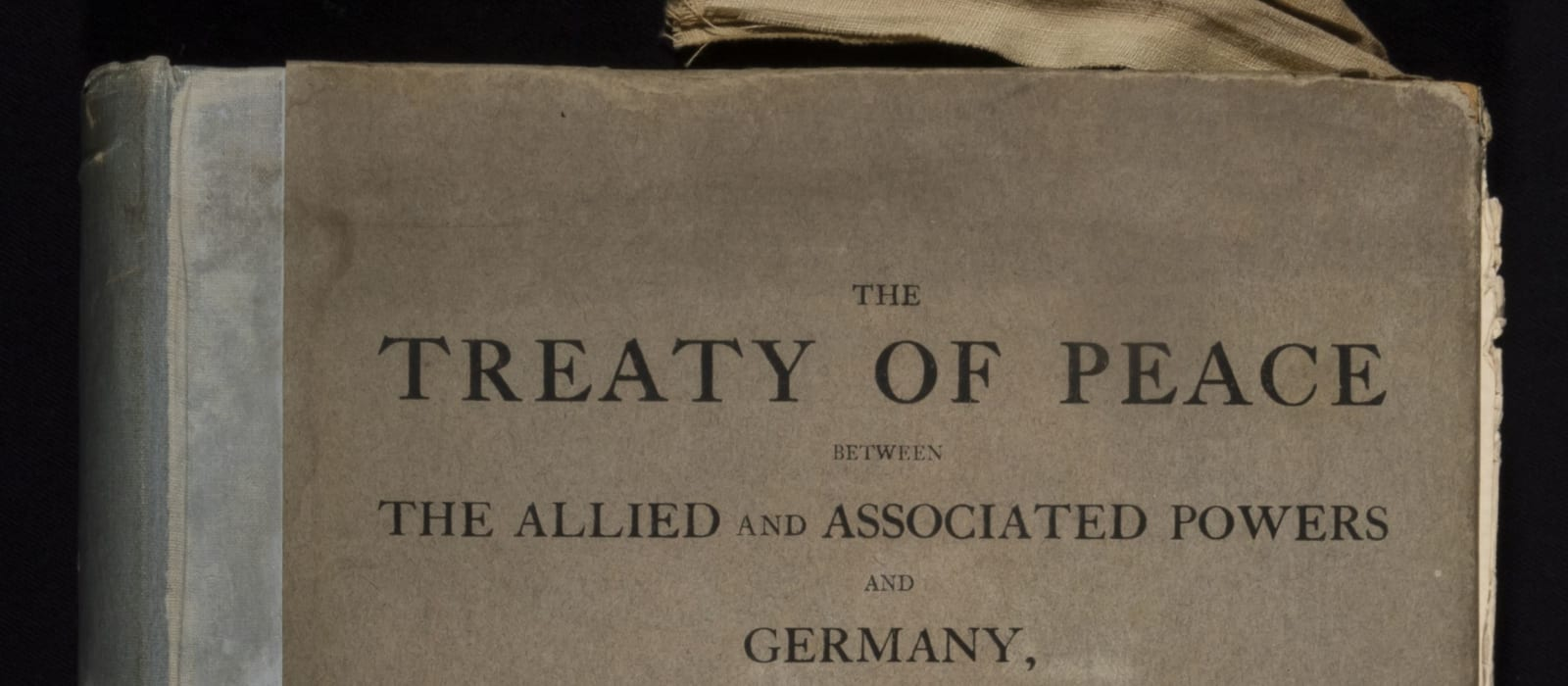 2020 Objects of Peace: The Treaty of Versailles